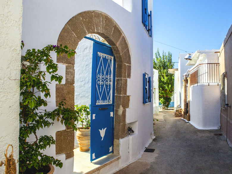 Villa Kefi main entrance